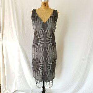Akris hand print dress